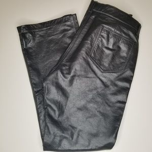Gap Genuine leather boot cut pants size 16 nwot